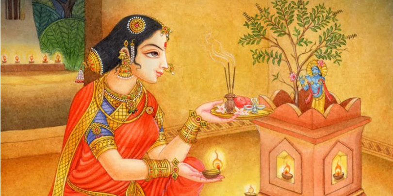 Famous Tulasi Saligram Vivah Pictures for Free Download